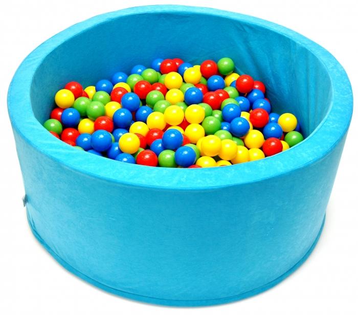 Bazén pro děti 90x40cm kruhový tvar + 200 balónků. - tyrkys