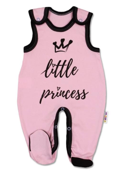 Kojenecké bavlněné dupačky, růžové vel. 68 - Little Princess