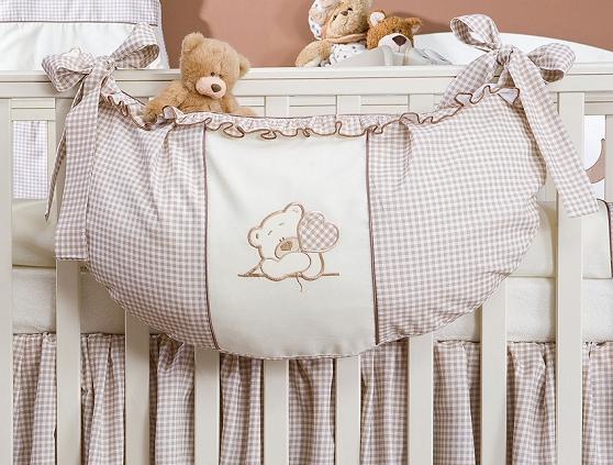 Luxusní kapsář na hračky - Medvídek se srdíčkem hnědý kr.