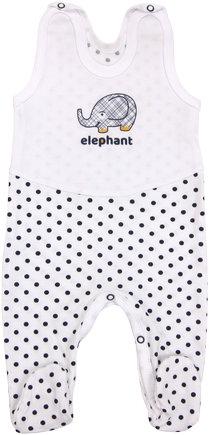 Kojenecké bavlněné dupačky Elephant, vel. 68