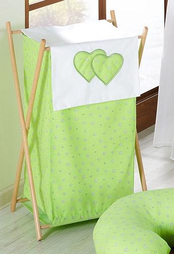 Kojící polštář - Srdíčko květinka zelená