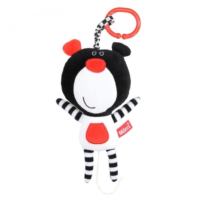 Závěsná edukační /plyšová hračka Méďa s melodií - černá