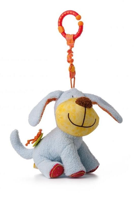 Závěsná plyšová hračka s chrastítkem Pejsek Ipo