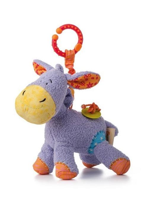 Závěsná plyšová hračka s chrastítkem - Oslík Laki
