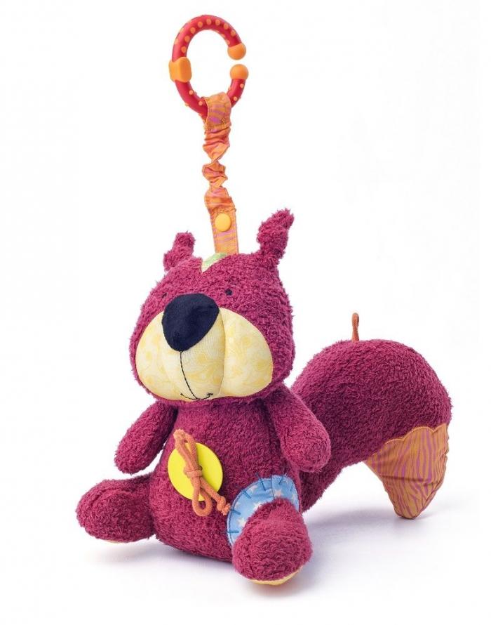 Závěsná plyšová hračka s chrastítkem - Veverka Apia