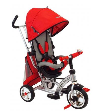 Baby Mix Dětská tříkolka Turbo Trike 360 - červená