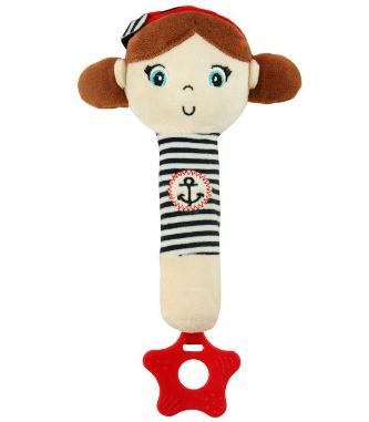 BABY MIX Edukační hračka pískací s kousátkem Námořník - Holčička