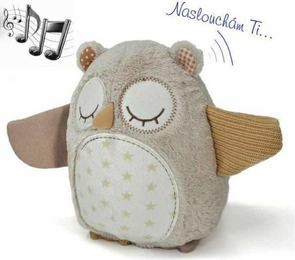 Spící sovička s melodii a snímačem spánku