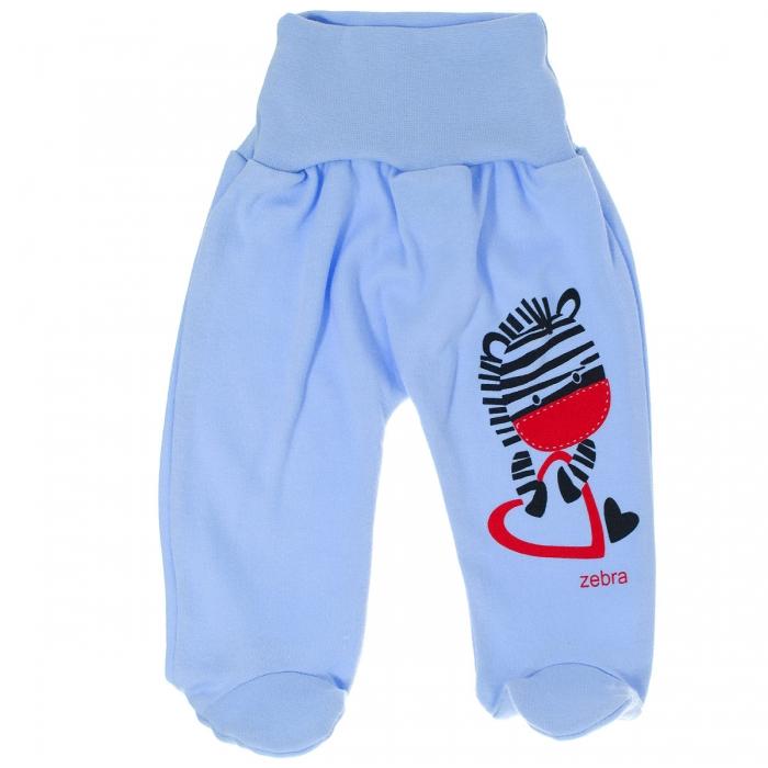 Bavlněné polodupačky Zebra - modré