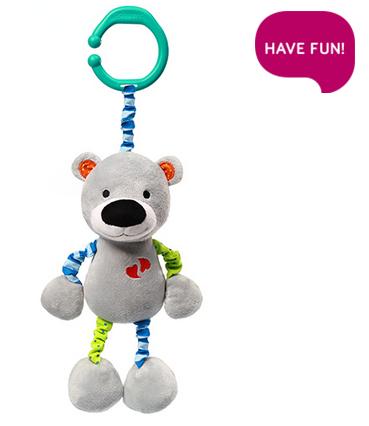 Závěsná hračka s vibrací a chrastítkem Bear Basil