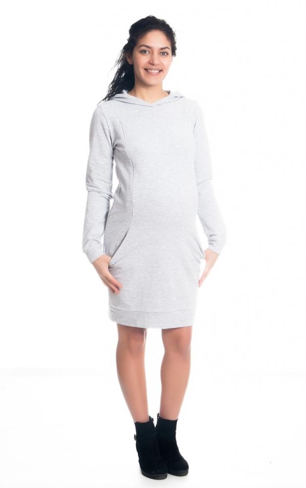 78e98e06f16b Be MaaMaa Těhotenské kojící šaty Anais s kapucí