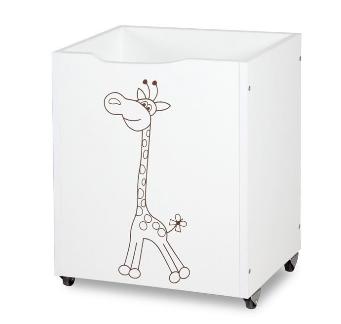 Dřevěný box na hračky Safari - Žirafa bílá