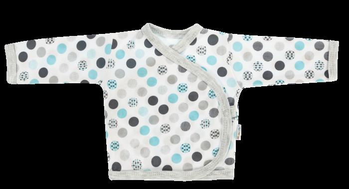 Mamatti Novorozenecká košilka Bubble Boo - zapínání bokem, tyrkys/šedá