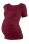 Těhotenské triko krátký rukáv JOHANKA - bordo