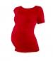 Těhotenské triko krátký rukáv JOHANKA - červená
