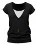 Kojící,těhotenské triko JULIE - černá