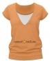 Kojící,těhotenské triko JULIE - sv. oranžová