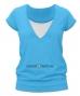 Kojící,těhotenské triko JULIE - tyrkys