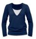 Kojící, těhotenské triko JULIE dl. rukáv - jeans
