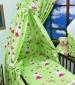 Mantinel + povlečení + nebesa CL - Kočičky v zelené