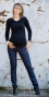 Těhotenské kalhoty JEANS - Granát