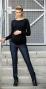 Těhotenské kalhoty JEANS - Černý jeans