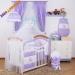 Luxusní mega set s bílou moskytierou z šifonu - Míša Nellys srdíčko, fialový