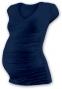 Těh. tričko MINI rukáv s výstřihem do V - jeans