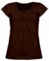 Kojící,těhotenské triko KARIN - čokohnědé