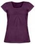Kojící,těhotenské triko KARIN - švestkové