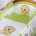 Mantinel s povlečením Baby Dreams SAFARI - Lev - zelená kostička