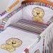 Mantinel s povlečením Baby Dreams SAFARI - Lev - proužek amarant