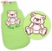 Spací vak Medvídek TEDDY Baby Nellys - sv. zelený vel. 2