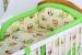 Bavlněné povlečení Baby Dreams Sovy krémové/zelené