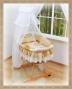 Koš s výbavou Darland - Patchwork krémový - bílá moskytiéra