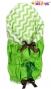 Zavinovačka, peřinka de lux - ZigZag zelený/zelená