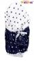 Zavinovačka, peřinka de lux - Granátové hvězdičky v bílé/bílé hvězdičky v granátové