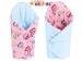 Luxusní zavinovačka MINKY BABY - oboustranná Sovičky růžové