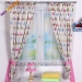 Závěsy Baby Dreams Kolekce Sovičky - růžové