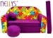 Rozkládací dětská pohovka Nellys ® 68R