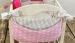 Kapsář nejen na hračky BE LOVE - Bubble retro růžové/šedý proužek