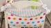 Kapsář nejen na hračky BE LOVE - Bubble barevné /šedé proužky