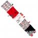 Malá textilní knížka MINI - černočervená