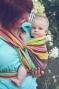 Little FROG Tkaný šátek na nošení dětí - Slunečný Fluoryt
