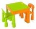 TEGA Sada nábytku pro děti - stoleček a 2 židličky - oranž/zelená