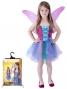 Karnevalový kostým víla s křídly, modrá, vel. M