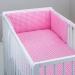 Mantinel s povlečením - IKEA růžová
