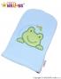 Žínka froté s výšivkou Žabka Baby Nellys ® - modrá