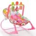 Lehátko,houpačka pro kojence s vibrací a hudbou - Safari růžové