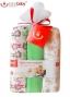 Dětské látkové tetra pleny LUX BOBO BABY - Opičky/zelená